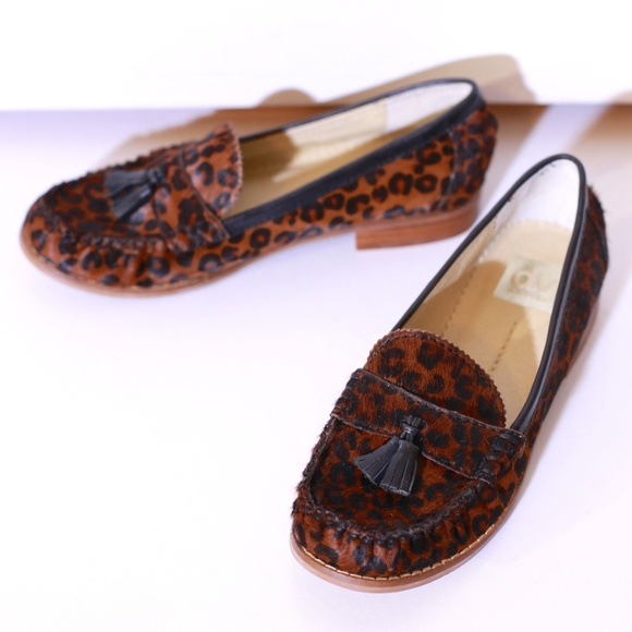 99b39666f28 Dolce Vita Shoes - Dolce Vita Leopard Print Calf Fur Tassle Loafers
